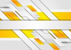 Jaskrawej żółtej techniki korporacyjny abstrakcjonistyczny tło Obrazy Royalty Free