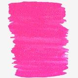 Jaskrawej menchii farby wektorowy punkt na białym tle Obrazy Royalty Free