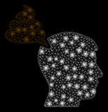Jaskrawej siatki ścierwa bzdury Myśląca osoba z Lekkimi punktami royalty ilustracja