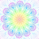 Jaskrawej tęczy wektorowy paw upierza tło royalty ilustracja