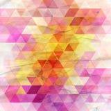 Jaskrawi abstrakta wzoru trójboki Zdjęcie Royalty Free
