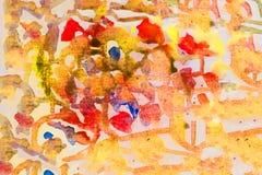 Jaskrawi akwareli plamy kapinosy ilustracja abstrakcyjna zdjęcia royalty free