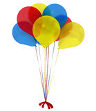 Jaskrawi ballons 3d komputer wytwarzająca wizerunku praca zespołowa Zdjęcie Royalty Free