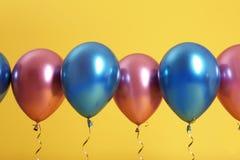 Jaskrawi balony z faborkami obraz royalty free