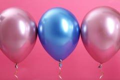 Jaskrawi balony z faborkami fotografia stock