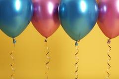 Jaskrawi balony z faborkami obraz stock