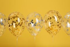 Jaskrawi balony z faborkami fotografia royalty free
