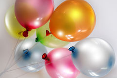 Jaskrawi barwioni balony Zdjęcia Stock