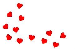 Jaskrawi czerwoni serca na pasiastym tle Po to, aby używać walentynki ` s dzień, śluby, Międzynarodowy kobiety ` s dzień Zdjęcia Royalty Free