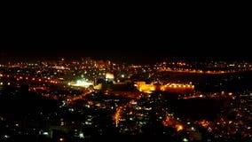 Jaskrawi Jerozolimscy miast światła przy nocą zdjęcie wideo