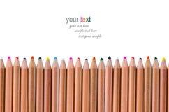 Jaskrawi kolorów ołówki Obraz Stock