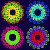 Jaskrawi kolory tablecloth Zdjęcia Royalty Free