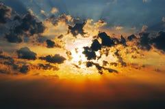 Sun w chmurach Zdjęcie Royalty Free