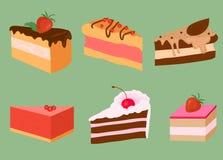 Jaskrawi tortów plasterki Obrazy Stock