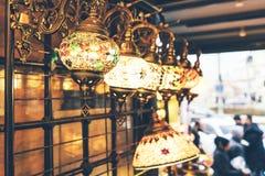 jaskrawi tureccy mozaika lampiony zdjęcie royalty free