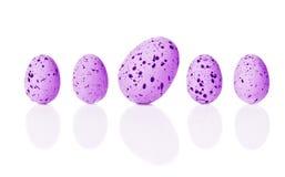 Jaskrawi Wielkanocni jajka Obrazy Royalty Free