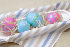 Jaskrawi Wielkanocni jajka Obraz Stock