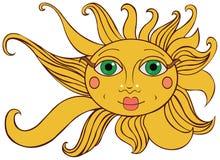 jaskrawy żółty słońce Zdjęcie Stock