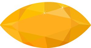 Jaskrawy żółty topaz odizolowywający na białym tle również zwrócić corel ilustracji wektora zdjęcie stock