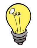 jaskrawy żarówki pomysłu światło Obrazy Royalty Free