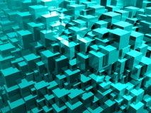 Jaskrawy Abstrakcjonistyczny Błękitny tło ilustracja 3 d ilustracja wektor