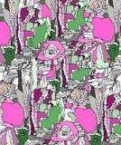 Jaskrawy abstrakcjonistyczny ilustracyjny lato Zdjęcie Stock