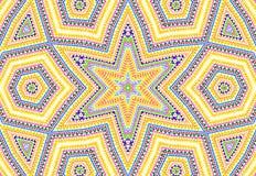 Jaskrawy abstrakcjonistyczny kolorowy koncentryczny wzór Obrazy Stock