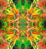 Jaskrawy abstrakcjonistyczny kwiecisty wzór dla dekoraci Zdjęcia Royalty Free