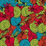 Jaskrawy abstrakcjonistyczny owoc wzór Obraz Royalty Free