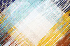 Jaskrawy abstrakcjonistyczny tło barwiona nić Zdjęcia Stock