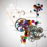 Jaskrawy abstrakcjonistyczny tło Zdjęcia Stock