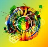 Jaskrawy abstrakcjonistyczny tło Obraz Stock
