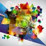 Jaskrawy abstrakcjonistyczny tło Zdjęcia Royalty Free