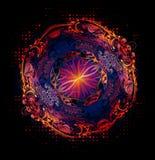 Jaskrawy abstrakcjonistyczny tło Obrazy Royalty Free