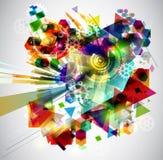 Jaskrawy abstrakcjonistyczny tło Obrazy Stock
