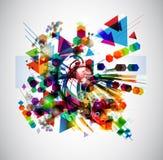 Jaskrawy abstrakcjonistyczny tło Obraz Royalty Free