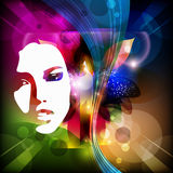 Jaskrawy abstrakcjonistyczny tło Zdjęcie Stock