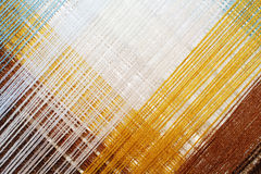 Jaskrawy abstrakcjonistyczny tło barwiona nić Zdjęcie Stock