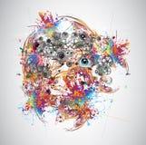 Jaskrawy abstrakt Obraz Stock