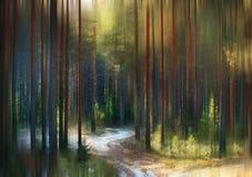 Jaskrawy abstrakt zamazujący jesień krajobraz Fotografia Royalty Free
