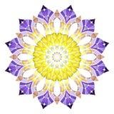 Jaskrawy abstrakta wzór, mandala Obrazy Stock