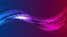 Jaskrawy błękitny i purpurowy abstrakcjonistyczny bieżący fala ruchu tło royalty ilustracja