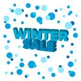 Jaskrawy błękit 3d formułuje ` zimy sprzedaży ` Zdjęcie Stock