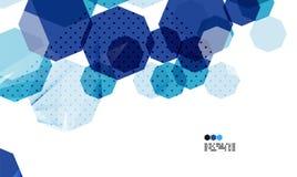 Jaskrawy błękitny geometryczny nowożytnego projekta szablon royalty ilustracja