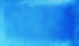 Jaskrawy błękitny tło z białą starą rocznika grunge teksturą Fotografia Royalty Free