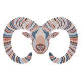 Jaskrawy baran, zodiaka Aries znak Obrazy Royalty Free