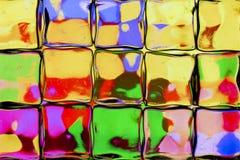 Jaskrawy barwiąca szklanego bloku ściana ilustracja wektor