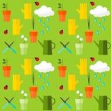 Jaskrawy barwiący bezszwowy deseniowy tło na temacie ogrodnictwo Zdjęcie Stock