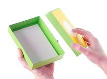 Jaskrawy barwiący pudełka dla prezentów Obraz Stock
