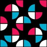 Jaskrawy barwiony geometryczny bezszwowy wzór ilustracji